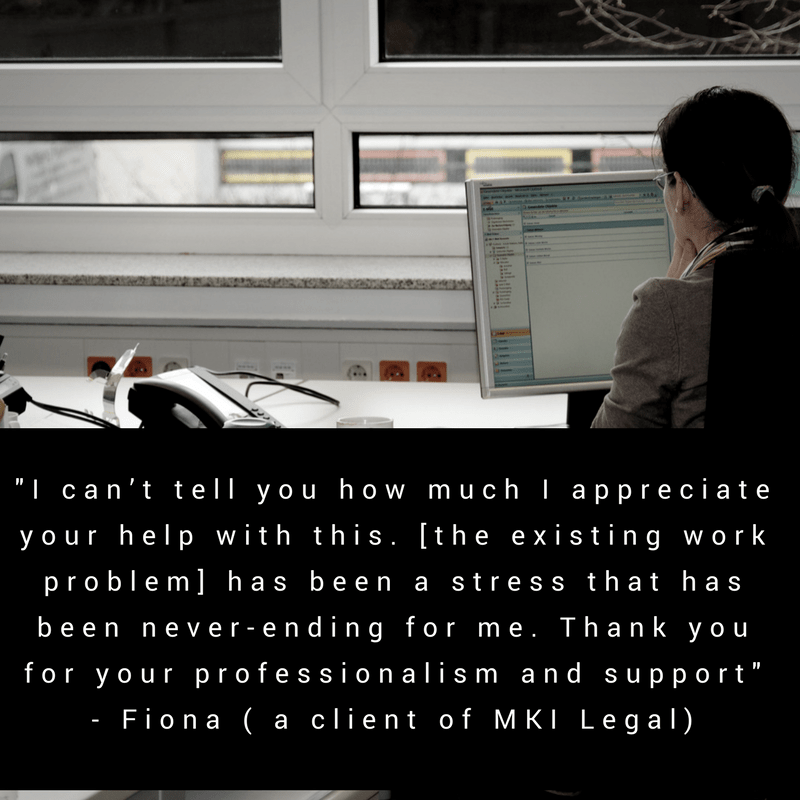 Fiona (a client of MKI Legal)
